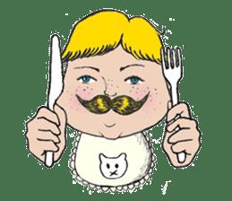 Mustache boy -normal ver. sticker #2174082