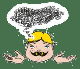 Mustache boy -normal ver. sticker #2174083