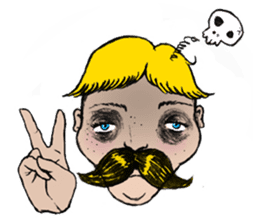 Mustache boy -normal ver. sticker #2174095