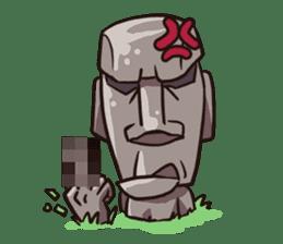 Grumpy Moai sticker #2174361