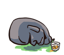 Grumpy Moai sticker #2174362