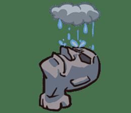 Grumpy Moai sticker #2174366