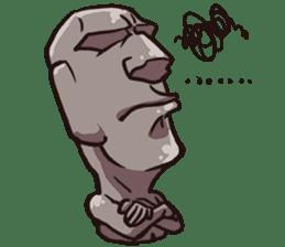 Grumpy Moai sticker #2174370