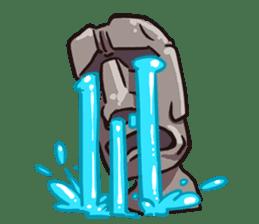 Grumpy Moai sticker #2174371