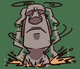 Grumpy Moai sticker #2174372