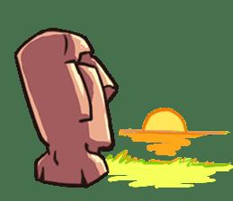 Grumpy Moai sticker #2174374