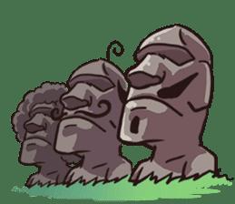 Grumpy Moai sticker #2174377