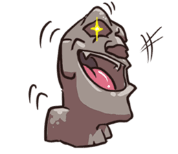 Grumpy Moai sticker #2174378