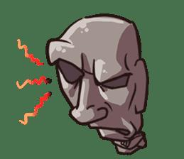 Grumpy Moai sticker #2174380