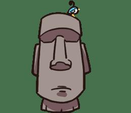 Grumpy Moai sticker #2174381