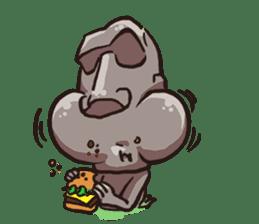 Grumpy Moai sticker #2174387