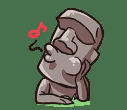 Grumpy Moai sticker #2174389
