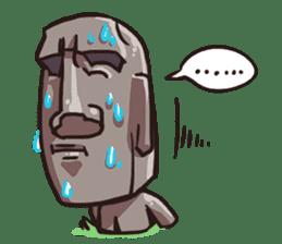 Grumpy Moai sticker #2174393