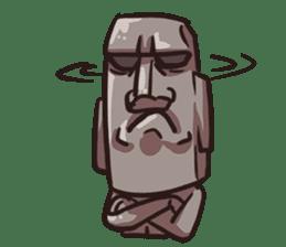 Grumpy Moai sticker #2174398
