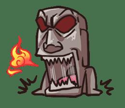 Grumpy Moai sticker #2174399