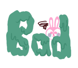 Rabbit & English Sticker sticker #2175858