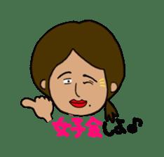 Japanese annoying girl TAKAKO(21) vol.1 sticker #2180044