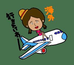 Japanese annoying girl TAKAKO(21) vol.1 sticker #2180045