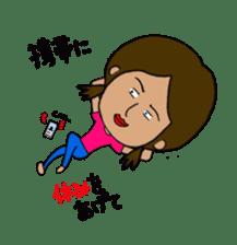 Japanese annoying girl TAKAKO(21) vol.1 sticker #2180046