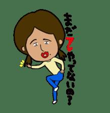 Japanese annoying girl TAKAKO(21) vol.1 sticker #2180073