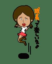 Japanese annoying girl TAKAKO(21) vol.1 sticker #2180078