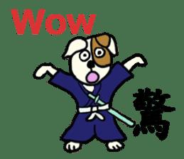 Such as the Samurai Dog sticker #2180819