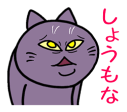 Displeased cat and man sticker #2182151