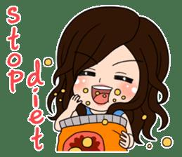 """StampGirl """"beauty & diet""""  English sticker #2183815"""