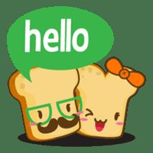 Mr and Mrs Toastee , cute toast sticker sticker #2184659