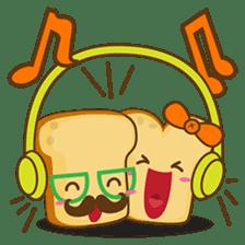 Mr and Mrs Toastee , cute toast sticker sticker #2184664