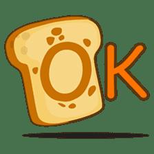 Mr and Mrs Toastee , cute toast sticker sticker #2184666