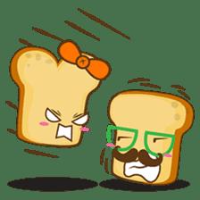 Mr and Mrs Toastee , cute toast sticker sticker #2184668