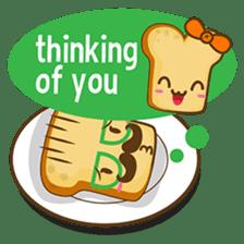 Mr and Mrs Toastee , cute toast sticker sticker #2184673
