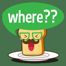 Mr and Mrs Toastee , cute toast sticker sticker #2184677