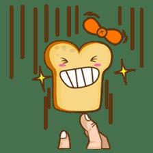 Mr and Mrs Toastee , cute toast sticker sticker #2184678