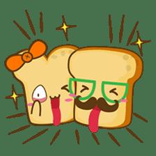 Mr and Mrs Toastee , cute toast sticker sticker #2184682