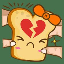 Mr and Mrs Toastee , cute toast sticker sticker #2184684