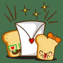 Mr and Mrs Toastee , cute toast sticker sticker #2184687