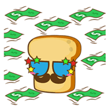 Mr and Mrs Toastee , cute toast sticker sticker #2184692