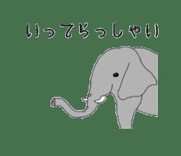 Animals cute sticker #2185897