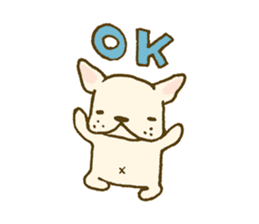 Japanese French bulldog sticher sticker #2187744