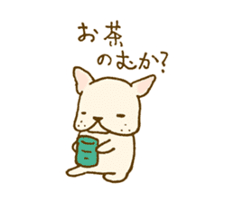Japanese French bulldog sticher sticker #2187761