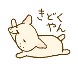 Japanese French bulldog sticher sticker #2187766