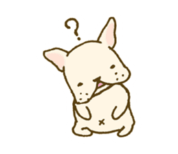 Japanese French bulldog sticher sticker #2187767