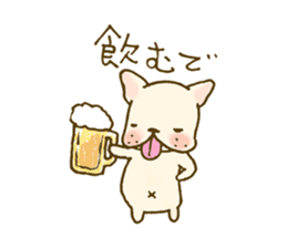 Japanese French bulldog sticher sticker #2187768
