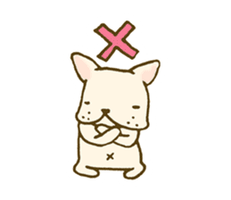 Japanese French bulldog sticher sticker #2187779