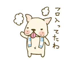 Japanese French bulldog sticher sticker #2187780