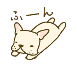 Japanese French bulldog sticher sticker #2187782
