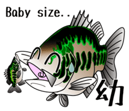 Black bass lure fishing sticker #2188992