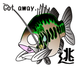 Black bass lure fishing sticker #2188994
